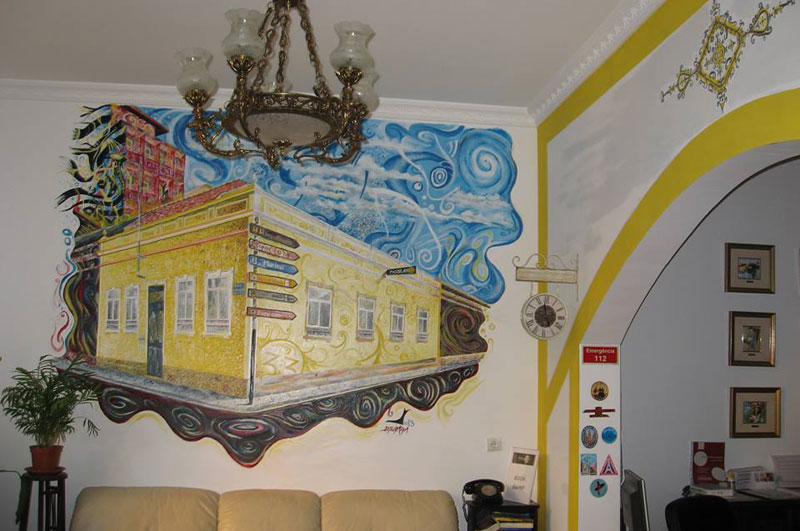 Hostel Faro Reception Wall Decoration